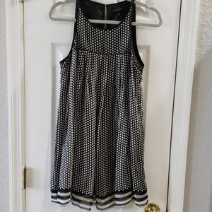 The Limited Black & White Mini Polka Dot Dress
